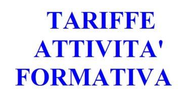 TARIFFE ATTIVITà FORMATIVA