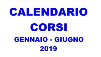 CALENDARIO CORSI GENN-GIUGN 2019